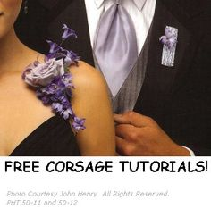 Corsage and Boutonniere Ideas - See this site for DIY tutorials and buy professional floral supplies