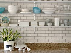 white subway tile with chocolate grout - Google Search