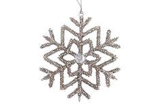 S/4 Snowflake Ornaments, Frost on OneKingsLane.com