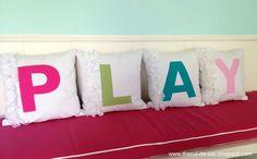 playroom+pillows | playroom pillows...so cute! Adorable idea | Sewing Inspirations and T ...