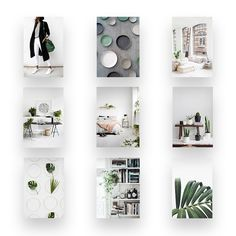 30 Days Challenge! Personal projects are key to stay inspired! Inspiration board 2/30 - Go Green! I chose darkish green tones, touches of dark greys and a lot of bright whites. I also tried out a new #layouts with drop shadows to give it dimension and depth.
