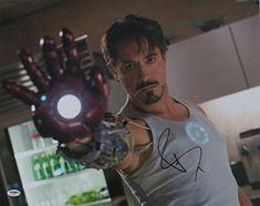Robert Downey Jr. Signed Iron Man Authentic Autographed 16x20 Photo PSA/DNA #U36055 @ niftywarehouse.com