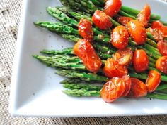 Asparagus with Balsamic Tomatoes | BetsyLife