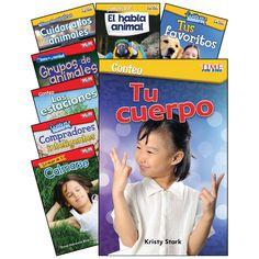 Math-science Spanish Gr K-1 8 Book Set Time For Kids
