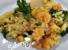 Receita Prato Principal : Risoto de camarão e alho poró com brócolis de Saborecor