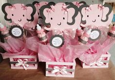 Baby Elephant Baby Shower Centerpiece