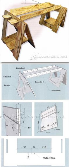 Folding Sawhorse Plan - Workshop Solutions Plans, Tips and Tricks | WoodArchivist.com