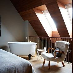 Small spaces, HUGE inspiration. Perhaps the tiniest bathtub in the world