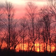 Fiery sunset during the ending of autumn and at the brink of adolescence.