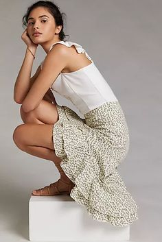 New Clothing for Women | Anthropologie Boho Outfits, New Outfits, 50 Fashion, Spring Fashion, What I Wore, What To Wear, Cute Skirts, Resort Wear, Wide Leg Pants