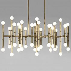 Meurice Rectangular Chandelier - Use with 15W bulbs and a dimmer that can handle this much wattage.