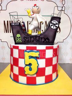 Kick Buttowski Cake 3D