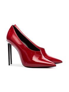 9bfeacc7095 Saint Laurent Teddy 105 Patent Leather Pumps - Farfetch. Red PumpsPatent  Leather PumpsProm ShoesBlack HeelsYslStiletto ...