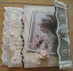 M.K - mallen van Petra van Dam en anja van Laar, prentje Pion, achtergrond Vintage Romance van MD