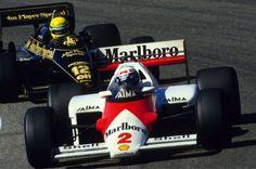 Alain Prost (Mclaren-Tag) & Ayrton Senna (Lotus-Renault) Grand Prix de Hollande - Zanvoorth 1985