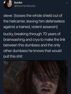 Bucky and Steve Funny Marvel Memes, Dc Memes, Avengers Memes, Marvel Jokes, Marvel Dc Comics, Marvel Avengers, Bucky And Steve, Stucky, Tom Holland