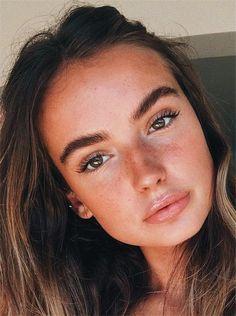 pinterest ↠ @camrynjoycee Simple Make Up Natural, Natural Looks, Natural Makeup Looks, Natural Skin, Natural Summer Makeup, Simple Makeup Looks, Natural Beauty, Makeup Ideas, Makeup Inspo