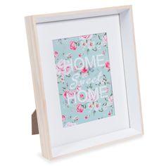 Cornice foto in legno bianca 22 x 27 cm KARLA