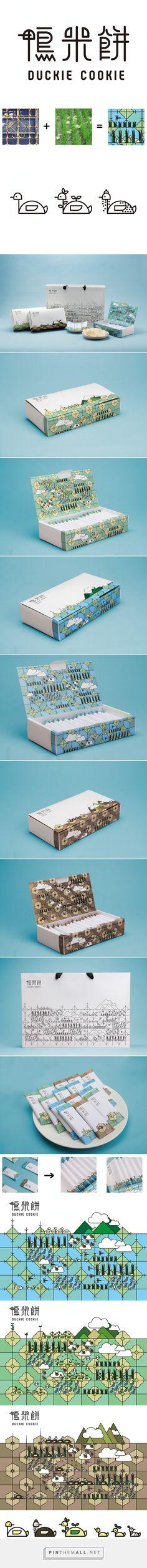 Duckie #Cookie #packaging designed by Yu-Heng Lin - http://www.packagingoftheworld.com/2015/06/duckie-cookie.html