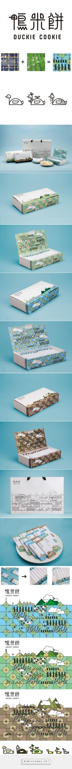 Duckie #Cookie #packaging designed by Yu-Heng Lin - http://www.packagingoftheworld.com/2015/06/duckie-cookie.html
