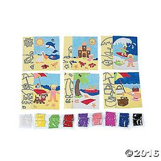 Here's the nitty-gritty! Just like A Day At The Beach!, our art sets are all about sand, sand, sand! Kids love making sand art scenes all summer long! ...