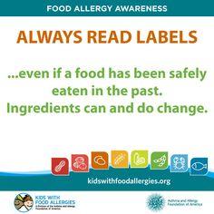 Always. read. labels. #foodallergy