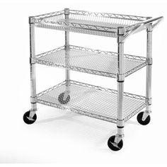 Seville Classics Heavy-Duty Utility Cart, Model# SHE99307ZB