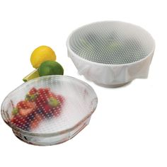 "Set of 2 Norpro ""Sili-Stretch"" Silicone Lids: for Mixing Bowls & Baking Pans 