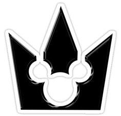 Kingdom Hearts Mickey Crown Sticker