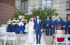 'It's my pleasure to present for the first time Mr and Mrs.' Wedding Ceremony in the Hotel Courtyard - The Royce Hotel Melbourne Wedding Venue Wedding Ceremony, Wedding Venues, Hotel Meeting, Melbourne Wedding, Old World Charm, Bridesmaid Dresses, Wedding Dresses, Royce, First Time
