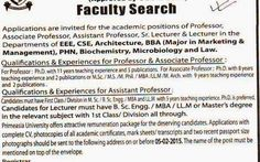 *Primeasia University, Post: Lecturer, Asst. Professor.* Source: The Daily Prothom Alo, Date of Publication: January 25, 2015 #newspaper #jobs #all #primeasia #university #lecturer #asst. #professor #bd #job #it