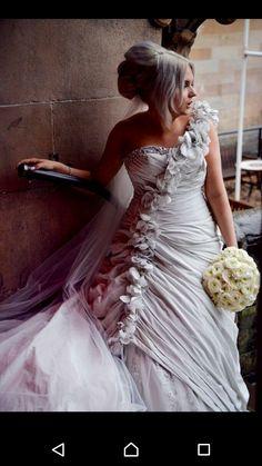 Ian Stuart soufriere wedding dress in shark