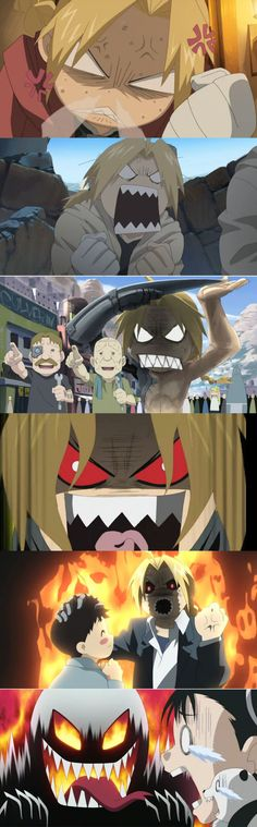 Angry Level: Edward Elric,  Fullmetal Alchemist Brotherhood