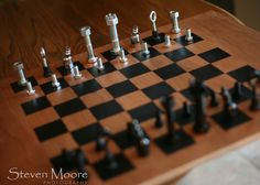 make chess pieces from hardware