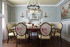 Sarah richardson design, Nina Campbell wallpaper Stradivari