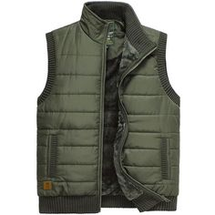 Autumn Winter Casual Outdoor Thick Warm Waistcoats Stand Collar Vest For Men - Gchoic.com