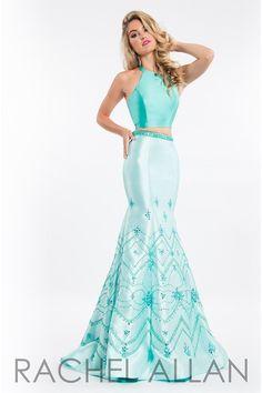 Rachel Allan 7502 Jade/Mint Two Piece Mermaid Prom Dress