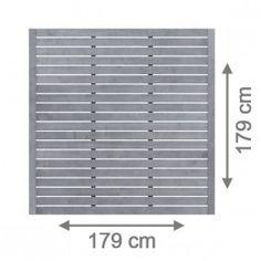 Sichtschutzzaun NEO 179 x 179 cm offen - Grau