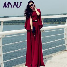 New Fashion Women Shawls Chiffon Long Dress Plus Size Maxi Dress For Women Slid Party Dresses Vestidos Para Festa D33022 * Check this awesome product by going to the link at the image.