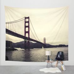 Golden Gate Wall Tapestry by Noonday Design | Society6