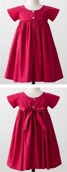 BONTON 2013SS GIRL DRESS キッズ 半袖ワンピース (322 ROSE GLOS レッド) 3A-6A