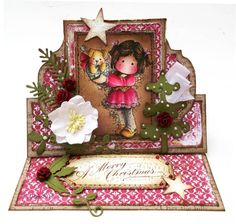 a touch of magnolia  Love this easel card