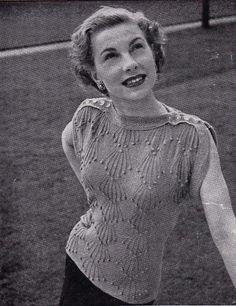 Gratis patroon. 1940s knitting pattern