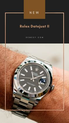 A classic watch that will match any outfit and man - the Rolex Datejust II Men's 41mm Stainless Steel Watch. Rolex Datejust Ii, Rolex Watches For Men, New Rolex, Stainless Steel Watch, Omega Watch, Crystals, Outfit, Classic, Silver