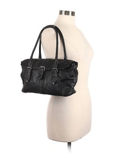 Fossil Leather Solid Black Leather Shoulder Bag One Size - off Second Hand Clothes, Solid Black, Sale Items, Leather Shoulder Bag, Fossil, Bucket Bag, Black Leather, Handbags, Clothes For Women