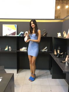 White trade show - Milan. Our hostess at the footwear Katy Perry stand