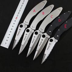Policía venta caliente cuchillo plegable hoja de acero VG-10 o G10 manejar herramientas de Supervivencia cuchillo Táctico de la Caza que acampa EDC Multi