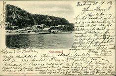 Vestfold fylke Holmestrand . Fint bilde med brygge osv., vignettformat brukt 1903 Utg A. Schrøders Bog og Akcidenstrykkeri