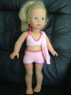 Seaside-Outfit für 18 amerikanischen Mädchen Puppe von petitedolls