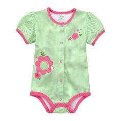 Jumping beans spring summer cotton kids baby boy girl infant short sleeve triangle rompers thoracotomy jumpsuits bodysuit plaid